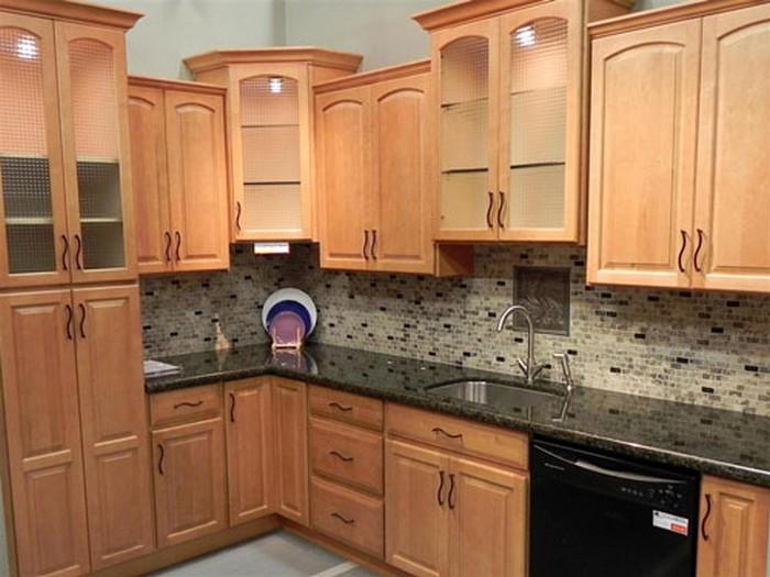 cabinet wood finish feature: oak | designer cabinets, granite & tile