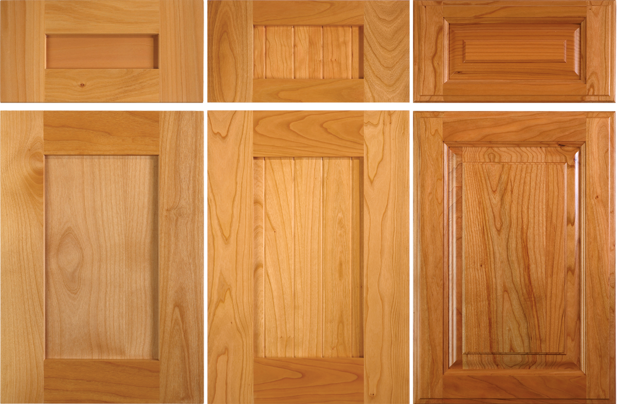 Cabinet wood finish feature alder